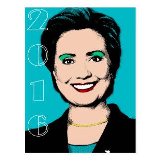 Hillary Clinton para el presidente 2016 Postal