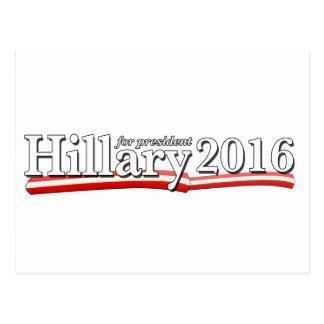 Hillary Clinton para el presidente 2016 Tarjetas Postales