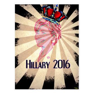 Hillary Clinton para el presidente 2016 Tarjeta Postal