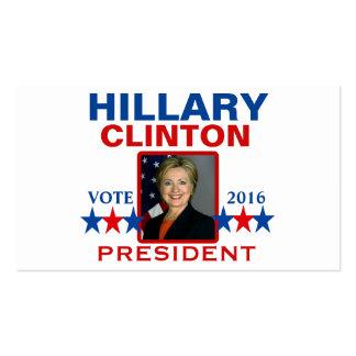 Hillary Clinton para el presidente 2016 Tarjetas De Visita