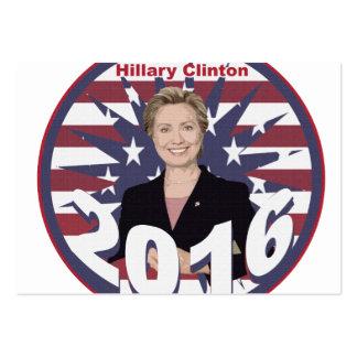 Hillary Clinton para el presidente 2016 Tarjetas De Visita Grandes