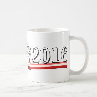 Hillary Clinton para el presidente 2016 Taza Básica Blanca