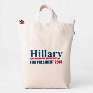 Hillary Clinton para el presidente Bolsa De Lona Duck