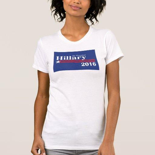 Hillary Clinton para el presidente camiseta 2016
