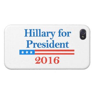 Hillary Clinton para el presidente en 2016 iPhone 4 Cobertura