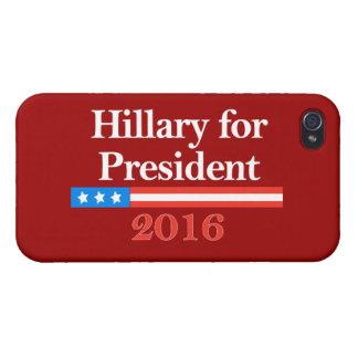 Hillary Clinton para el presidente en 2016 iPhone 4/4S Carcasa