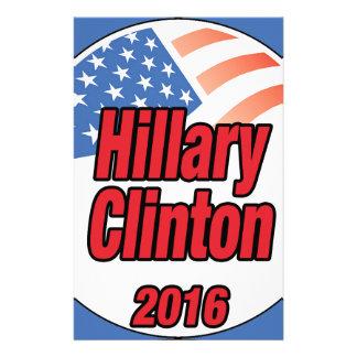 Hillary Clinton para el presidente en 2016 Papelería Personalizada