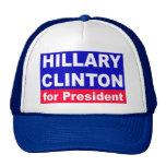 Hillary Clinton para el presidente Gorras