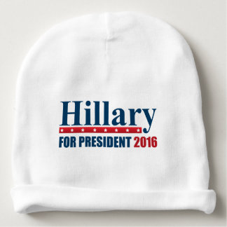 Hillary Clinton para el presidente Gorrito Para Bebe