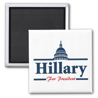 Hillary Clinton para el presidente Imán Cuadrado