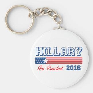 Hillary Clinton para el presidente Llavero Redondo Tipo Pin