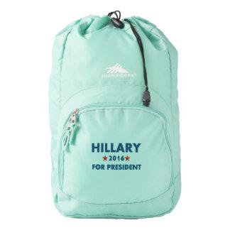 Hillary Clinton para el presidente Mochila