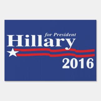 Hillary Clinton para el presidente muestra de 2016 Letrero