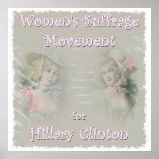 Hillary Clinton para el presidente Posters