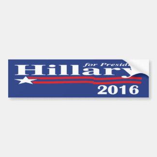 Hillary Clinton para el presidente pegatina para e Etiqueta De Parachoque