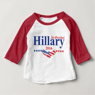 Hillary Clinton para el presidente Playera De Bebé