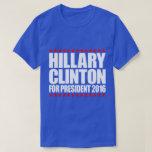 Hillary Clinton para la camiseta del presidente Playera