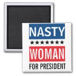 Hillary Clinton para la mujer desagradable del Imán Cuadrado