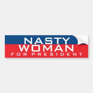 Hillary Clinton para la mujer desagradable del Pegatina Para Auto