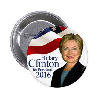 """Hillary Clinton para Pin 2"""" del presidente 2016"""