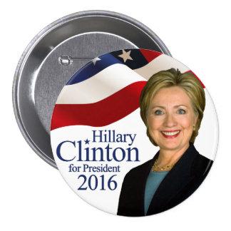 """Hillary Clinton para Pin 3"""" del presidente 2016"""