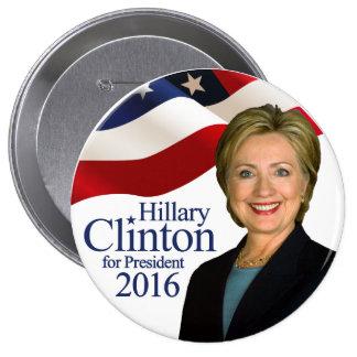 """Hillary Clinton para Pin 4"""" del presidente 2016"""