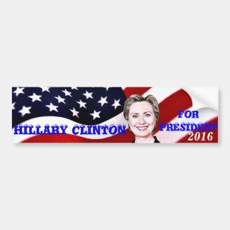 Hillary Clinton para President-2016_ Pegatina Para Auto
