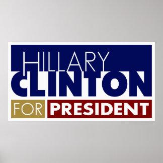 Hillary Clinton para presidente Poster V1