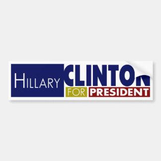Hillary Clinton para presidente V1 Pegatina Para Auto
