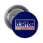 Hillary Clinton para presidente V1 Pin