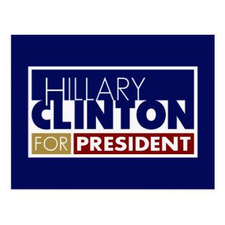 Hillary Clinton para presidente V1 Postal