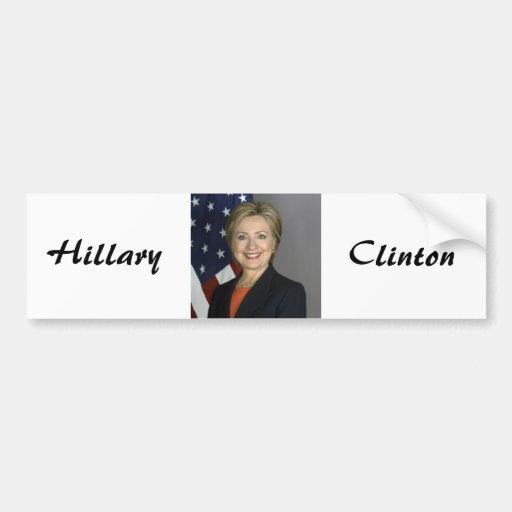 Hillary Clinton Pegatina Para Auto
