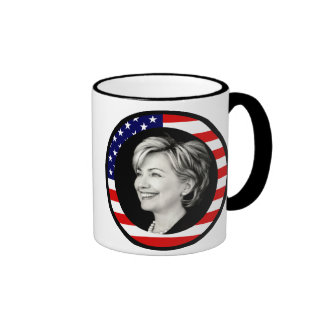 hillary clinton : picturesque : ringer mug