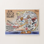 """Hillary Clinton Pieces of Her Mind Jigsaw Puzzle<br><div class=""""desc"""">The perfect puzzle for after dinner laughs with your #MAGA loved ones.  Buy 1 and help fund Ben Garrison Maga cartoons !</div>"""