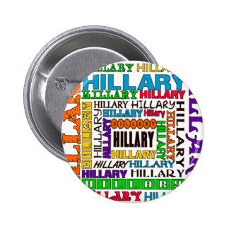 Hillary Clinton Pin Redondo De 2 Pulgadas