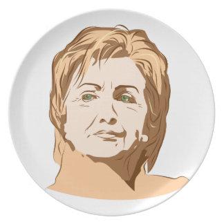 Hillary Clinton Platos De Comidas