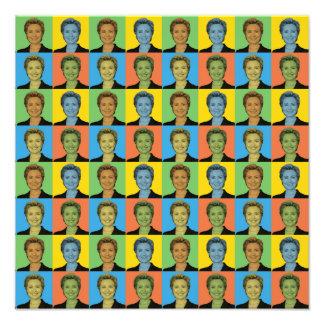 Hillary Clinton Pop-Art Photographic Print