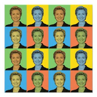 Hillary Clinton Pop-Art Photo Art