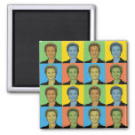 Hillary Clinton Pop-Art Refrigerator Magnet