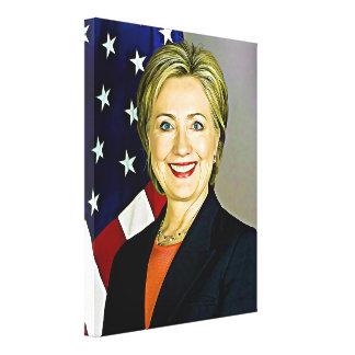 Hillary Clinton Portrait Digital Art Canvas