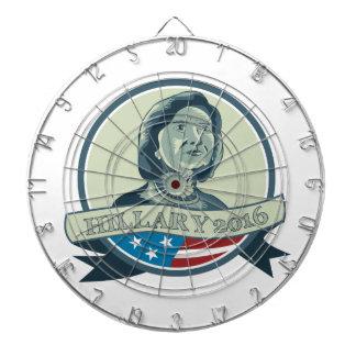 Hillary Clinton President 2016 Circle Dartboard With Darts