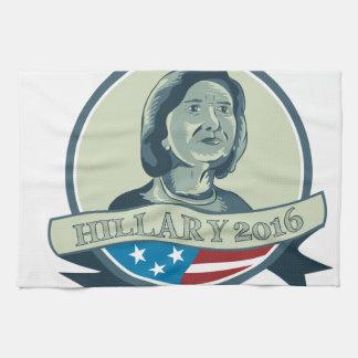Hillary Clinton President 2016 Circle Hand Towel