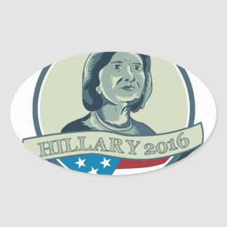 Hillary Clinton President 2016 Circle Oval Sticker