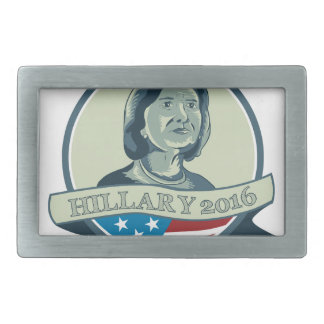 Hillary Clinton President 2016 Circle Rectangular Belt Buckle