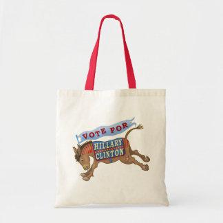 Hillary Clinton President 2016 Democrat Donkey Budget Tote Bag