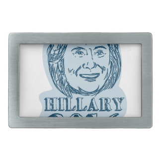 Hillary Clinton President 2016 Drawing Rectangular Belt Buckle