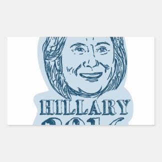 Hillary Clinton President 2016 Drawing Rectangular Sticker
