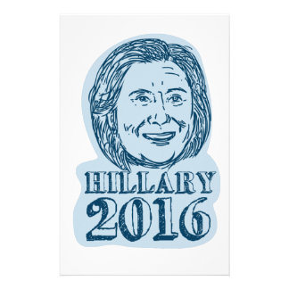 Hillary Clinton President 2016 Drawing Stationery