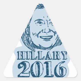 Hillary Clinton President 2016 Drawing Triangle Sticker