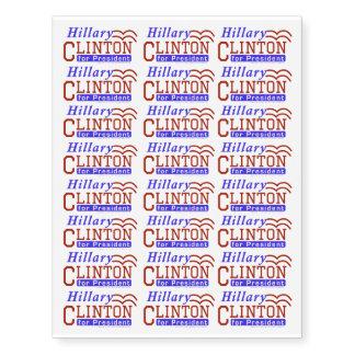 Hillary Clinton President 2016 Election Democrat Temporary Tattoos
